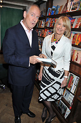 GYLES BRANDRETH and SANDRA HOWARD at a party to celebrate the publication of Sandra Howard's new book - Ex-Wives held at Daunt Books, 83 Marylebone High Street, London W1 on 30th April 2012.
