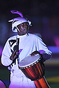 JOHANNESBURG, SOUTH AFRICA- Sunday 11 July 2010, a drummer during the closing ceremony held at Soccer City in Soweto during the 2010 FIFA Soccer World Cup..Photo by Roger Sedres/Image SA