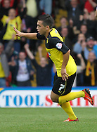 Picture by David Horn/Focus Images Ltd +44 7545 970036<br /> 28/09/2013<br /> Cristian Battocchio of Watford celebrates scoring the opening goal during the Sky Bet Championship match at Vicarage Road, Watford.