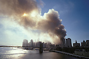 September 11 2001 World Trade Center on fire