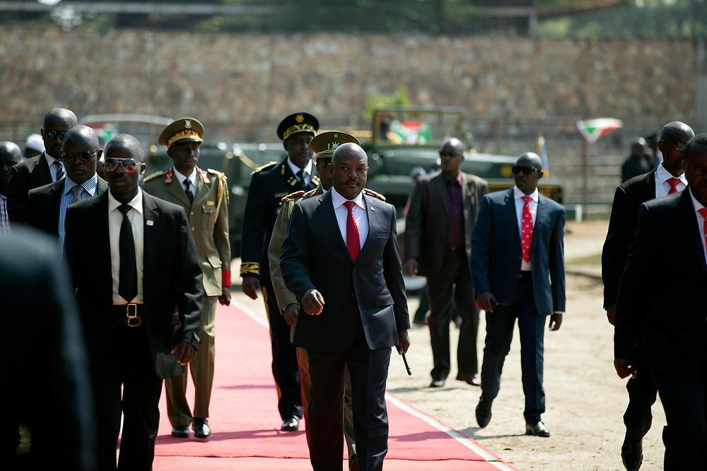 Burundi/Bujumbura 2016-07-01<br /> President Pierre Nkurunziza during Independence Day celebrations 1th July in Bujumbura.