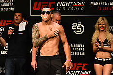 Pesagem UFC Fight Night - 21 Sept 2018