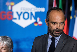 October 8, 2018 - Lyon, France - French prime minister and interim interior minister Edouard Philippe waits for G6 ministers arrival on October 8, 2018 in Lyon, during the G6 Summit of Interior Ministers of France, Germany, United Kingdom, Spain, Italy and Poland.  Interior ministers from the G6 European countries gathered for a meeting to discuss international cooperation in migratory issues and fight against terrorism. (Credit Image: © Nicolas Liponne/NurPhoto via ZUMA Press)