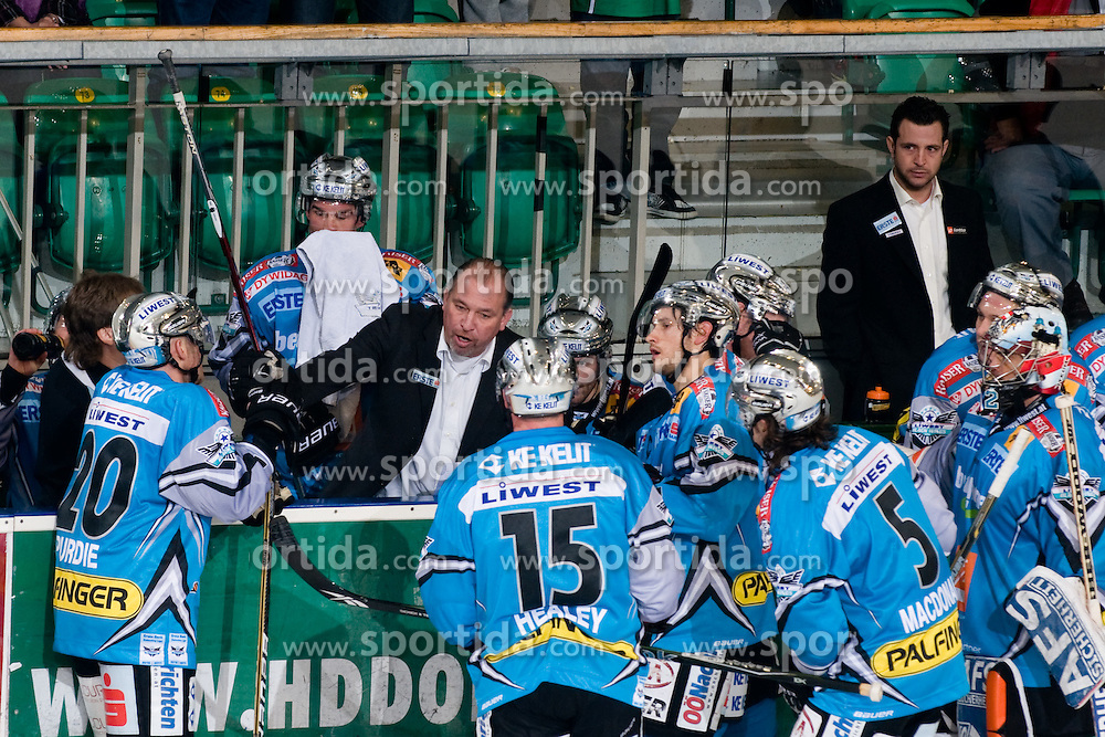 Bench of EHC Liwest Black Wings Linz during ice-hockey match between HDD Tilia Olimpija and EHC Liwest Black Wings Linz in 19th Round of EBEL league, on November 7, 2010 at Hala Tivoli, Ljubljana, Slovenia. (Photo By Matic Klansek Velej / Sportida.com)