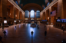 March 17, 2020, New York Manhattan, USA: A near-empty Grand Central station at rush hour in New York City during the coronavirus outbreak. (Credit Image: © Marcus Santos/ZUMA Wire)