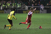 Whitehawk midfielder Sergio Torres during the The FA Cup 2nd Round Replay match between Whitehawk FC and Dagenham and Redbridge at the Enclosed Ground, Whitehawk, United Kingdom on 16 December 2015. Photo by Phil Duncan.