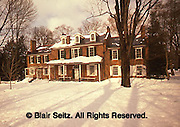 Historic Wheatland Estate, Winter Snow, President Buchanan's Home