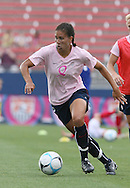 The United States' Shannon Boxx wearing a special pink Breast Cancer Awareness top during pregame warmups on Saturday, May 12th, 2007 at Pizza Hut Park in Frisco, Texas. The United States Women's National Team defeated Canada 6-2 in a women's international friendly.