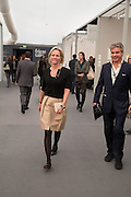 ELISABETH MURDOCH; HUGO DE FERRANTI, Opening of Frieze Masters. Regent's Park. London. 15 October 2013.