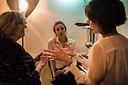 CATHERINE GUINNESS; LADY CHOLMONDELEY; HENRIETTA CHANNON; , Nicky Haslam hosts dinner at  Gigi's for Leslie Caron. 22 Woodstock St. London. W1C 2AR. 25 March 2015