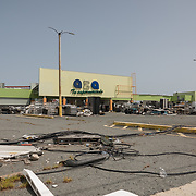 Guayama, Puerto Rico - July 6, 2018: Plaza Supermercado in Guayama lost it's entire roof to Hurricane Maria. The 12 and Under selection from Guayama which will compete in the Little League World Series.<br /> (Angel Valentin for ESPN)