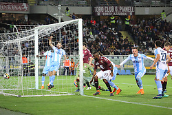 April 29, 2018 - Turin, Piedmont, Italy - Sergej Milinkovic-Savic (SS Lazio) scores the goal of the victory during the Serie A football match between Torino FC and SS Lazio at Olympic Grande Torino Stadium on April 29, 2018 in Turin, Italy..Final results is 0-1. (Credit Image: © Massimiliano Ferraro/NurPhoto via ZUMA Press)