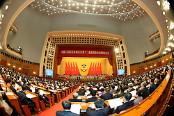The closing meeting of the fourth session of the 12th National Committee of the Chinese People's Political Consultative Conference is held at the Great Hall of the People in Beijing, capital of China, March 14, 2016. EXPA Pictures © 2016, PhotoCredit: EXPA/ Photoshot/ Li Gang<br /> <br /> *****ATTENTION - for AUT, SLO, CRO, SRB, BIH, MAZ, SUI only*****