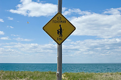 Sign at The Beach for fishermen crossing