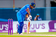 India ODI batsman Shikhar Dhawan digs a delivery out  during the 3rd Royal London ODI match between England and India at Headingley Stadium, Headingley, United Kingdom on 17 July 2018. Picture by Simon Davies.