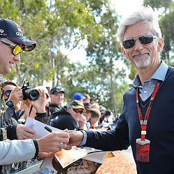 Damon Hill.<br /> Round 1 - Second day of the 2015 Formula 1 Rolex Australian Grand Prix at The circuit of Albert Park, Melbourne, Victoria on the 13th March 2015.<br /> Wayne Neal | SportPix.org.uk