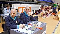 ROTTERDAM -  Wedstrijdtafel tijdens het Landskampioenschap reserveteam zaal 2013. FOTO KOEN SUYK