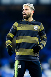 Sergio Aguero of Manchester City - Mandatory by-line: Robbie Stephenson/JMP - 06/02/2019 - FOOTBALL - Goodison Park - Liverpool, England - Everton v Manchester City - Premier League