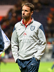 England U21 Manager, Gareth Southgate  - Mandatory byline: Matt McNulty/JMP - 07966386802 - 03/09/2015 - FOOTBALL - Deepdale Stadium -Preston,England - England U21 v USA U23 - U21 International