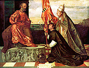 Votive painting of Jacopo Pesaro and Pope Alexander VI   by Titian 1509