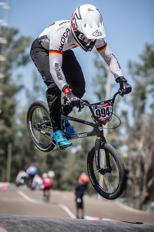 #994 (SCHMIDT Julian) GER at round 8 of the 2018 UCI BMX Supercross World Cup in Santiago del Estero, Argentina.