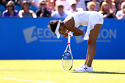 Great Britain's Heather Watson celebrates a point during her match against Slovakia's Dominika Cibulkova during day four of the AEGON International at Devonshire Park, Eastbourne.