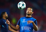 SEVILLE, SPAIN - NOVEMBER 01:  Luis Muriel of Sevilla FC in action priot to the UEFA Champions League group E match between Sevilla FC and Spartak Moskva at Estadio Ramon Sanchez Pizjuan on November 1, 2017 in Seville, Spain.  (Photo by Aitor Alcalde Colomer/Getty Images)