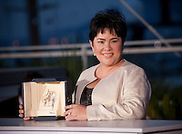 Jaclyn Jose with the Award For Best Actress In Ma' Rosa By Brillante Mendoza at the Palm D'Or Winners photocall at the 69th Cannes Film Festival Sunday 22nd May 2016, Cannes, France. Photography: Doreen Kennedy