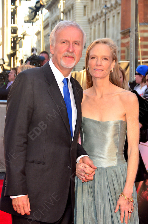 27.MARCH.2012. LONDON<br /> <br /> JAMES CAMERON AND SUZY AMIS CAMERON AT THE TITANIC 3D PREMIERE HELD AT THE ROYAL ALBERT HALL IN KENSINGTON, LONDON<br /> <br /> BYLINE: EDBIMAGEARCHIVE.COM/JOE ALVAREZ<br /> <br /> *THIS IMAGE IS STRICTLY FOR UK NEWSPAPERS AND MAGAZINES ONLY*<br /> *FOR WORLD WIDE SALES AND WEB USE PLEASE CONTACT EDBIMAGEARCHIVE - 0208 954 5968*