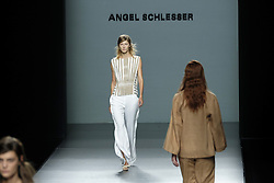 September 16, 2016 - Madrid, Spain - A model walks during Angel Schlesser Fashion Show at Madrid Fashion Week Spring/Summer 2017/18 at Ifema, on September 16, 2016, in Madrid, Spain. (Credit Image: © Oscar Gonzalez/NurPhoto via ZUMA Press)