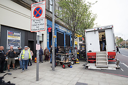 The Central Bar, in Leith, Edinburgh, filming scenes for the second Trainspotting film, on Monday 16/5/2016.