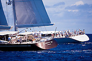 Lady B and Zefira sailing in the Caribbean Superyacht Regatta and Rendezvous, race 3.