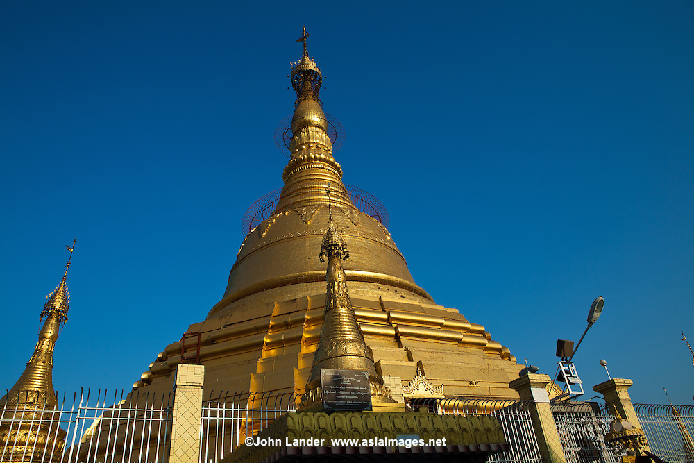 "Botataung Pagoda literally ""1000 military officers"" is a famous pagoda located in  Yangon, Myanmar, near the Yangon river. The pagoda was first built by the Mon around the same time as Shwedagon Pagoda over 2500 years ago and houses what is believed to be a sacred hair of Buddha."