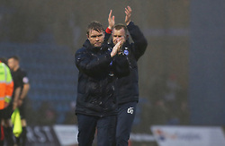 Peterborough United Manager Grant McCann acknowledges the support at full-time - Mandatory by-line: Joe Dent/JMP - 10/02/2018 - FOOTBALL - MEMS Priestfield Stadium - Gillingham, England - Gillingham v Peterborough United - Sky Bet League One