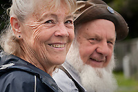 Guide, Harry J. Diamond and wife, Juanita, near Polk Inlet, Prince of Wales Island, Southeast Alaska (m.r.)