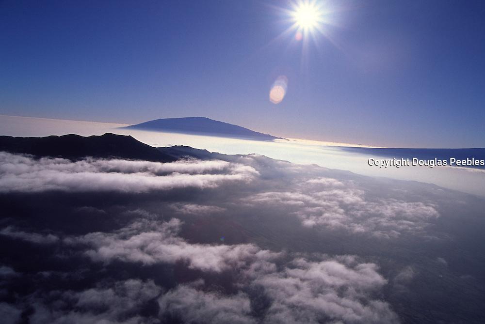 Hualalai, Mauna Kea in Backgound, Island of Hawaii<br />
