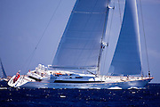 Mirabella V sailing during the St. Barth's Bucket 2011 race 1.