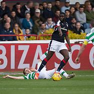 Dundee&rsquo;s Kostadin Gadzhalov tackles Celtic&rsquo;s Stuart Armstrong - Dundee v Celtic in the Ladbrokes Scottish Premiership at Dens Park, Dundee.Photo: David Young<br /> <br />  - &copy; David Young - www.davidyoungphoto.co.uk - email: davidyoungphoto@gmail.com