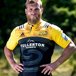 Brad Shields. 2017 Hurricanes Super Rugby official marketing images at Rugby League Park in  Wellington, New Zealand on Wednesday, 14 December 2016. Photo: Dave Lintott / lintottphoto.co.nz