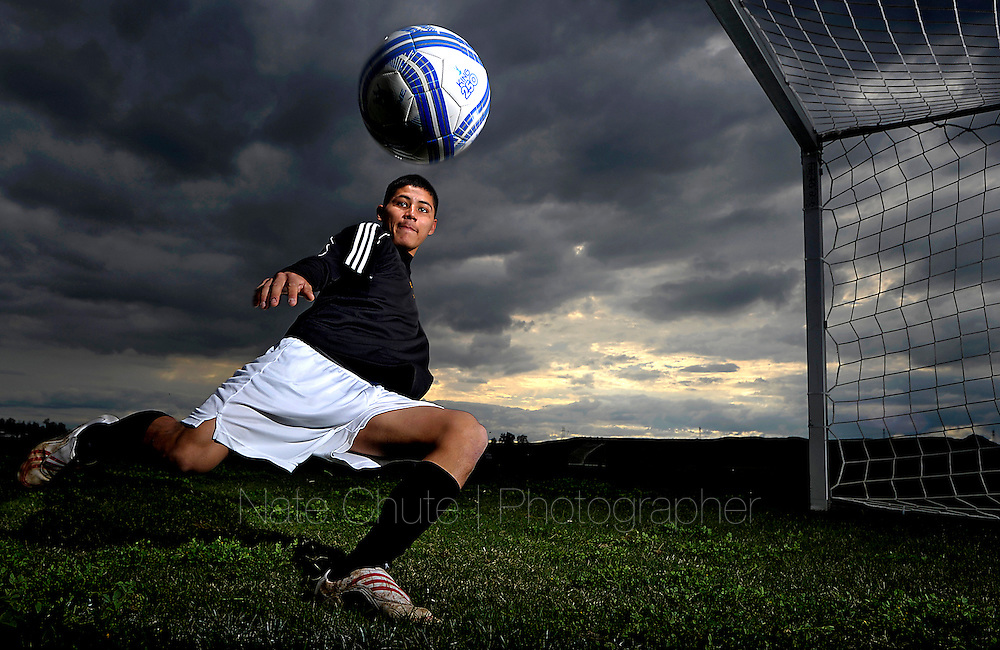 Live Oak High's Armando Araujo is the Appeal-Democrat's 2011-12 Boys Soccer Player of the Year for the second year in a row. (Nate Chute/Appeal-Democrat)
