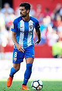 SEVILLE, SPAIN - SEPTEMBER 30:  Adrian Gonzalez of Malaga CF in action during the La Liga match between Sevilla and Malaga at Estadio Ramon Sanchez Pizjuan on September 30, 2017 in Seville  (Photo by Aitor Alcalde Colomer/Getty Images)