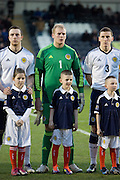 Scotland goalkeeper Daniel Wilson and mascot - Scotland v Holland - UEFA U21 European Championship qualifier at St Mirren Park..© David Young - .5 Foundry Place - .Monifieth - .Angus - .DD5 4BB - .Tel: 07765 252616 - .email: davidyoungphoto@gmail.com.web: www.davidyoungphoto.co.uk