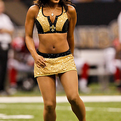 September 26, 2010; New Orleans, LA, USA; New Orleans Saints Saintsations cheerleaders perform during the second half at the Louisiana Superdome. Atlanta defeated New Orleans 27-24 in overtime.  Mandatory Credit: Derick E. Hingle-US PRESSWIRE