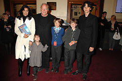 Musician DAVID GILMOUR, his wife POLLY SAMPSON and their children ROMANY, GABRIEL, JOE and CHARLIE at the gala night of Varekai by Cirque du Soleil at The Royal Albert Hall, London on 8th January 2008.<br />