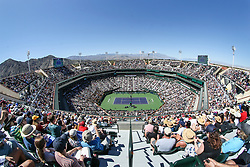 March 16, 2019 - Indian Wells, CA, U.S. - INDIAN WELLS, CA - MARCH 16: General view of Stadium 1 during the BNP Paribas Open on March 16, 2019 at Indian Wells Tennis Garden in Indian Wells, CA. (Photo by George Walker/Icon Sportswire) (Credit Image: © George Walker/Icon SMI via ZUMA Press)