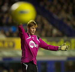 04.01.2012, Goodison Park Stadion, Liverpool, ENG, PL, FC Everton vs Bolton Wanderers, 19. Spieltag, im Bild Bolton Wanderers' goalkeeper Adam Bogdan in action against Everton during the football match of English premier league, 19th round, between FC Everton and Bolton Wanderers at Goodison Park Stadium, Liverpool, United Kingdom on 2012/01/04. EXPA Pictures © 2012, PhotoCredit: EXPA/ Propagandaphoto/ David Rawcliff..***** ATTENTION - OUT OF ENG, GBR, UK *****