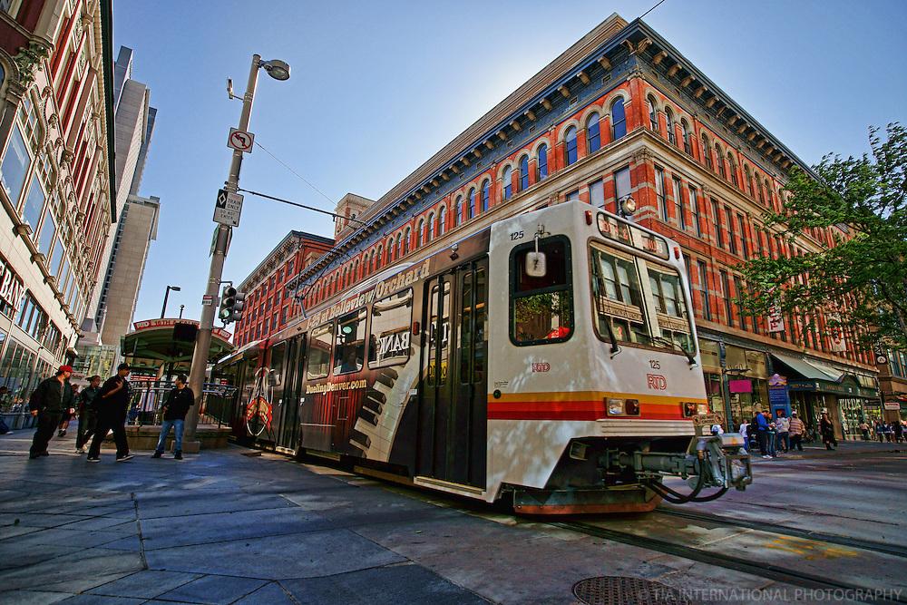 RTD Light Rail Train, Downtown