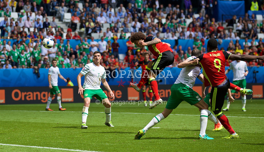 BORDEAUX, FRANCE - Saturday, June 18, 2016: Belgium's Axel Witsel scores his first goal to make the score 2-0 during the UEFA Euro 2016 Championship Group E match against the Republic of Ireland at Stade de Bordeaux. (Pic by Paul Greenwood/Propaganda)