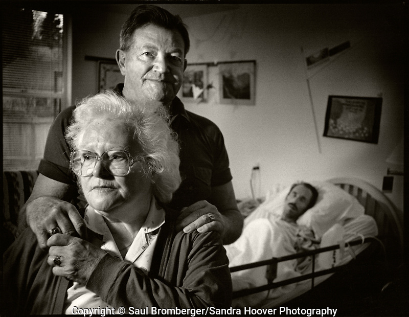 A documentary photo essay about some of the men and women living and battling the ravaging and horrific effects of AIDS, at the Bailey-Boushay House, an AIDS Hospice, in Seattle, WA., from June 1992 to April 1995.<br />
