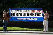 CIW March on Burger King - the Coalition of Immokalee Workers takes their struggle for fair food to the headquarters of Burger King in Miami - with the Student Farmworker Alliance and other supporters<br /> <br /> <br /> Photo must be credited to &quot;Jacques-Jean Tiziou / www.jjtiziou.net&quot; adjacent to the image. Online credits should link to www.jjtiziou.net. Photo may only be used as permitted by the photographer.